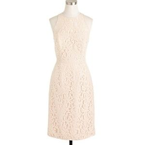 JCrew Pamela Dress in Leavers Lace (Champagne)
